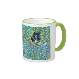 Black Bear in Berry Patch Ringer Mug