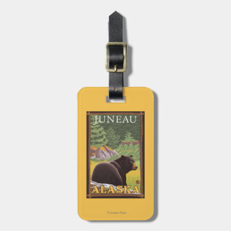 Black Bear in Forest - Juneau, Alaska Luggage Tag