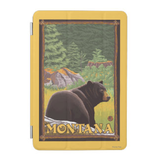 Black Bear in Forest - Montana iPad Mini Cover