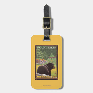 Black Bear in Forest - Mount Baker, Washington Luggage Tag