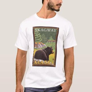 Black Bear in Forest - Skagway, Alaska T-Shirt