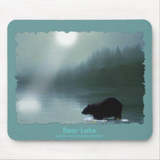 BLACK BEAR & MOONLIT LAKE MOUSE PADS