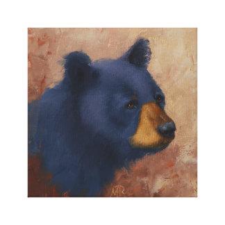 Black Bear Portrait Canvas Print
