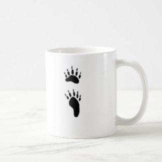 black bear print basic white mug