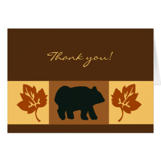 Black Bear Rustic Card Greeting or Note Card size