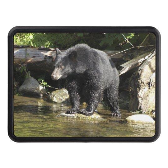 "Black Bear ""Salmon Spotting"" Wildlife Trailer Hitch Cover"