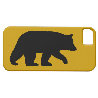 Black Bear Silhouette with Custom Background Color iPhone 5 Cover