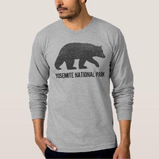 Black Bear Silhouette Yosemite National Park T-Shirt