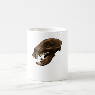 Black bear skull coffee mug