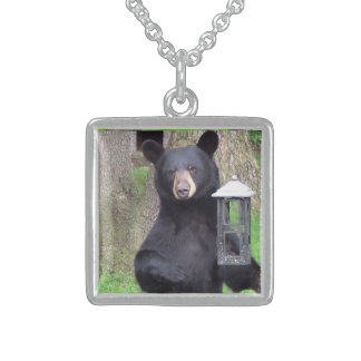 Black Bear Sterling Silver Necklace