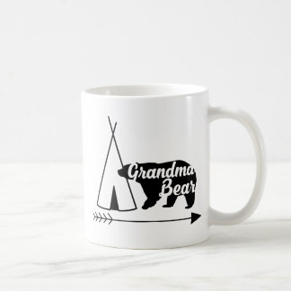 Black Bear Tent Arrow Grandma Bear Grandmother Mug