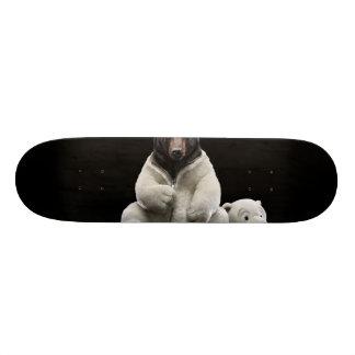 Black bear wearing polar bear costume skateboard deck