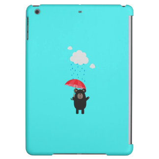 Black Bear with Umbrella Q1Q Case For iPad Air