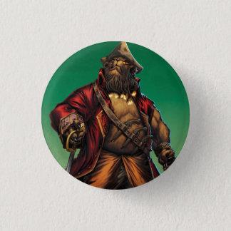 Black Bear'd 1 Inch Round Button
