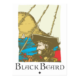 Black Beard Postcard