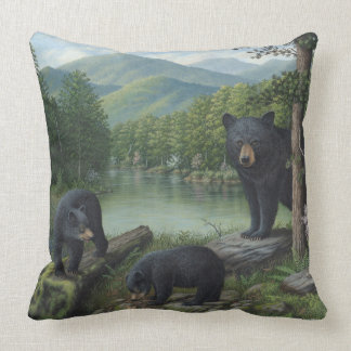 Black Bears Throw Pillow