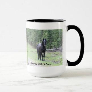 """Black Beauty""  Alberta Wild Horse 2 Mug"