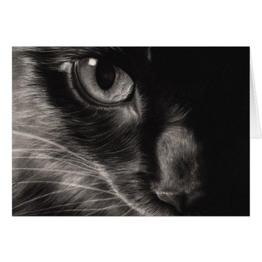 Black Beauty Cat Greeting Card