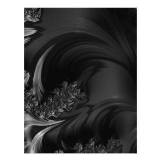 Black Beauty Fractal Art Letterhead