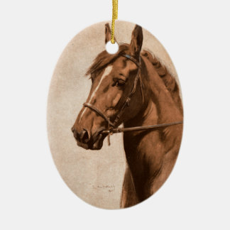 Black Beauty Ginger Horse Painting for Sewell book Ceramic Ornament