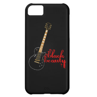 Black Beauty Grunge Electric Guitar Cover For iPhone 5C