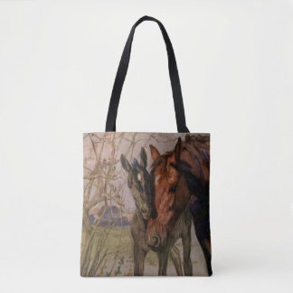 Black Beauty Mother Sewell book horse art Tote Bag