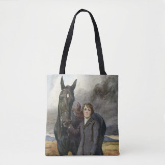 Black Beauty Sewell book painting by Welch Tote Bag
