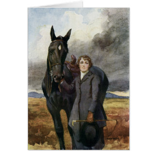 Black Beauty - She Chose Me For Her Horse Card