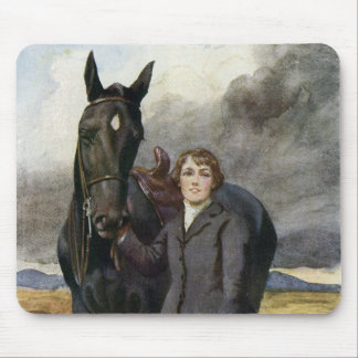 Black Beauty - She Chose Me For Her Horse Mouse Pad