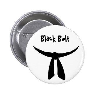 Black Belt 2 Inch Round Button
