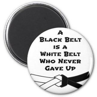 Black Belt 2 Inch Round Magnet