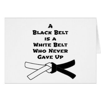 Black Belt Card