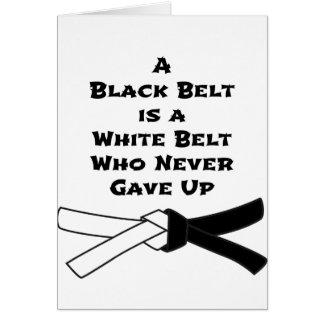 Black Belt Card