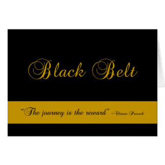 Black Belt Journey Promotion Test Invitation