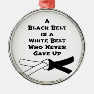 Black Belt Metal Ornament
