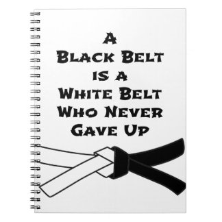 Black Belt Notebook