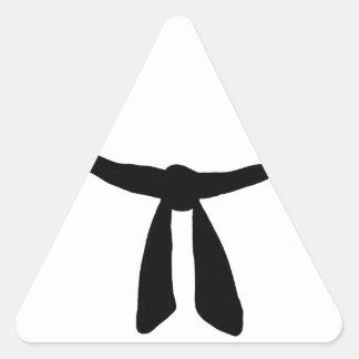 Black Belt Party Triangle Sticker