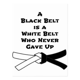 Black Belt Postcard