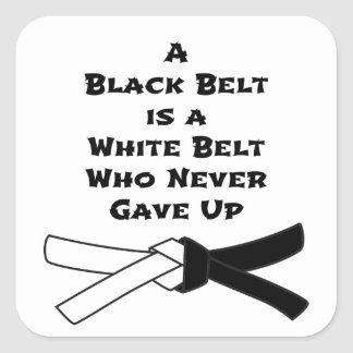 Black Belt Square Sticker