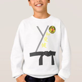 Black Belt Uniform Karate Master Halloween Costume Sweatshirt