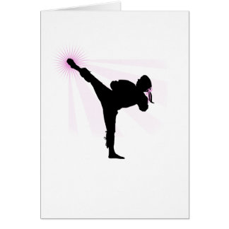Black Belts Wear Pink Too! Card