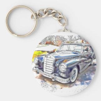 Black Benz Keychain