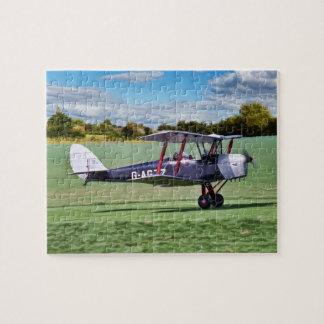 Black Bi plane Jigsaw Puzzle
