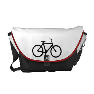 Black Bicycle Courier Bag