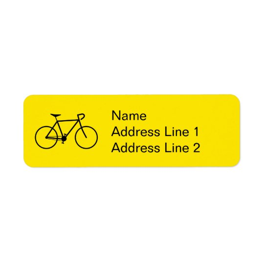 Black Bicycle Silhouette Address Label