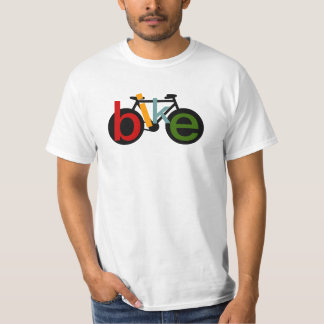 black bicycle with color word BIKE T-Shirt
