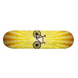 Black Bicycle; Yellow Background Skate Boards
