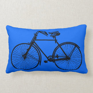 black bike bicycle Throw pillow bright blue sky