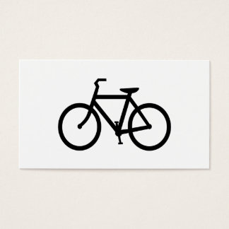 Black Bike Route Business Card