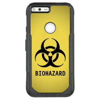 Black Biohazard Symbol on Yellow OtterBox Commuter Google Pixel XL Case